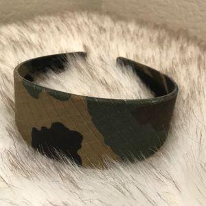 Camouflage material headband